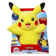 Pokémon - Peluche sonore et lumineuse Power Action Pikachu 25 cm