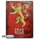 Game of Thrones - Plaque métal