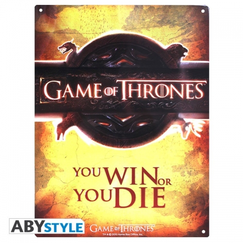 GAME OF THRONES - Plaque métal opening logo