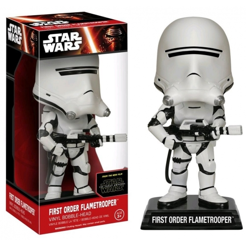 STAR WARS EP VII - Figurine Wacky Wobbler First Order Flametrooper !