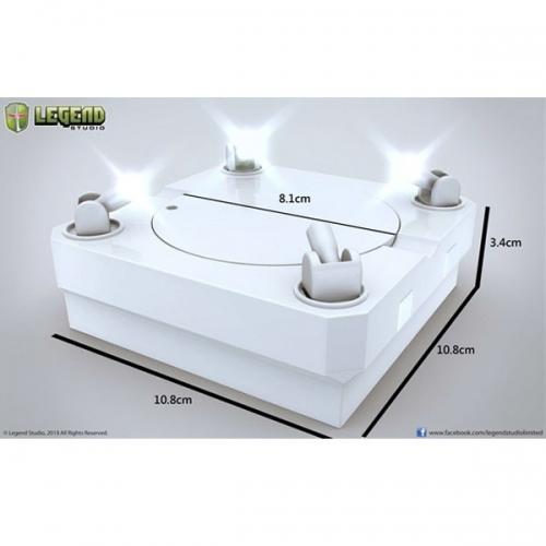 SOCLE DE PRESENTATION - Socle Blanc rotatif avec Lumieres !