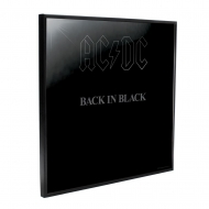 AC/DC - Décoration murale Crystal Clear Picture Back in Black 32 x 32 cm