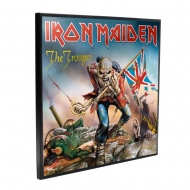 Iron Maiden - Décoration murale Crystal Clear Picture The Trooper 32 x 32 cm