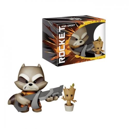 Les Gardiens de la Galaxie - Figurine Deluxe Vinyl Rocket Raccoon 18cm