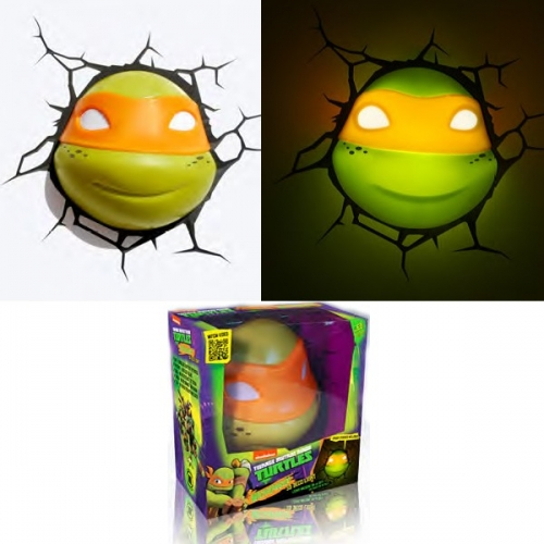 TORTUES NINJA - Lampe décorative 3D Michelangelo