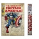 MARVEL - Sticker géant repositionnable Captain America