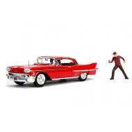Les Griffes de la Nuit - Réplique métal 1/24 Cadillac 1958 avec figurine