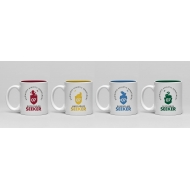 Harry Potter - Pack 4 tasses Espresso Crests