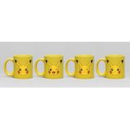 Pokémon - Pack 4 tasses Espresso Pikachu