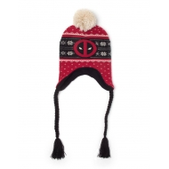 Marvel - Bonnet de ski Deadpool Red Badge Xmas Laplander