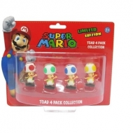 NINTENDO - Pack Toad : 4 Mini Figurines