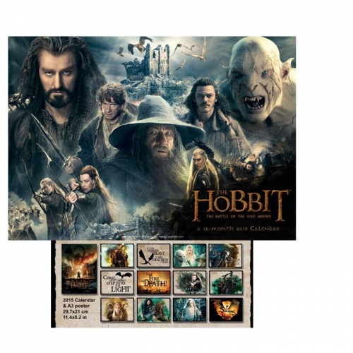 THE HOBBIT - The Battle of the 5 Armies Calendrier mural 2015 The Battle of the 5 Armies