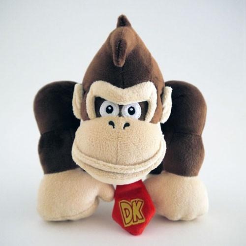 NINTENDO - Mario Bross WII - Peluche Donkey Kong (24cm)