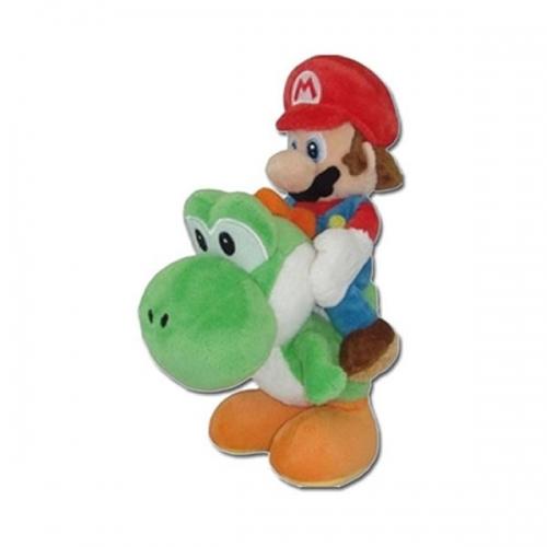 NINTENDO - Peluche Mario Bros - Mario & Yoshi (22 cm)
