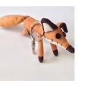 LE PETIT PRINCE - Peluche porte clef Renard 12cm