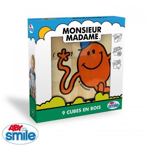MONSIEUR MADAME - Bois - 9 cubes