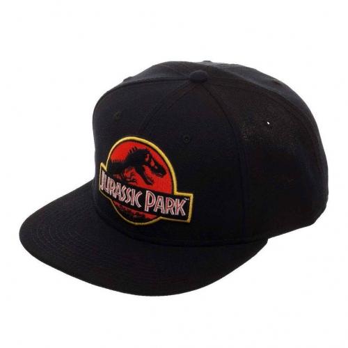 Jurassic Park - Casquette Snapback Logo Jurassic Park noir