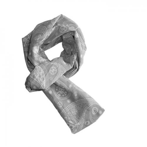 ONE PIECE - Echarpe mousseline grise