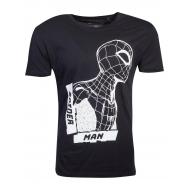 Marvel - T-Shirt Black Side View Spidey Spider-Man