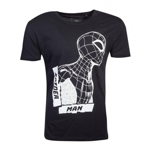 Marvel - T-Shirt Black Side View Spidey Spider-Man