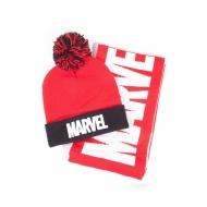 Marvel - Set bonnet & écharpe Logo Marvel