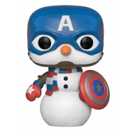 Marvel Holiday - Figurine POP! Captain America 9 cm