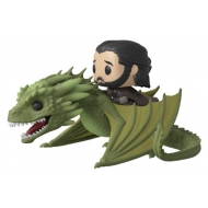 Game of Thrones - Figurine POP! Rides Jon Snow & Rhaegal 18 cm