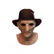 La Revanche de Freddy - Masque latex Deluxe avec chapeau Freddy Krueger