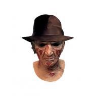 Les Griffes de la Nuit - Masque latex Deluxe avec chapeau Freddy Krueger