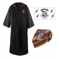 Harry Potter - Set robe, cravate & tatouage Gryffindor