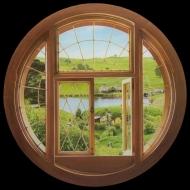 Le Hobbit - Sticker en vinyle géant repositionnable Hobbit Window