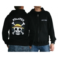 ONE PIECE - Sweat - Skull with map homme black