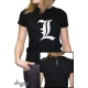 DEATH NOTE - Tshirt L tribute femme MC black - basic