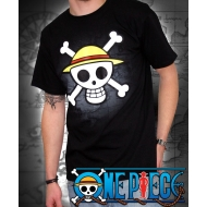 ONE PIECE - T-shirt basic homme Skull with map