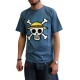 ONE PIECE - Tshirt Skull with map homme MC stone blue