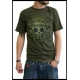 ONE PIECE - Tshirt Skull with map Used homme MC kaki