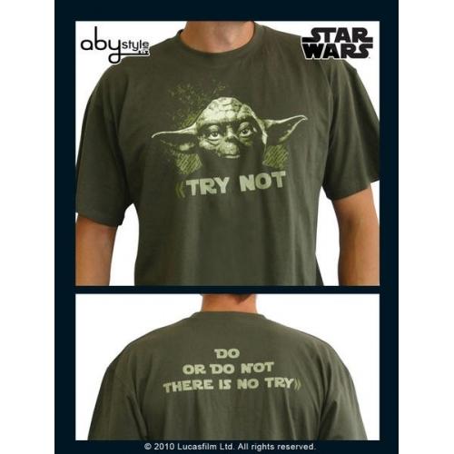 STAR WARS - Tshirt Yoda homme MC kaki - basic
