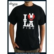 LAPINS CRETINS - Tshirt Love Lapin MC black