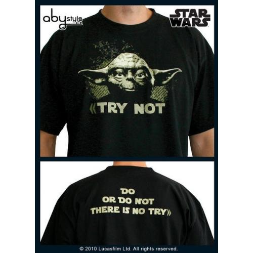 STAR WARS - Tshirt Yoda homme MC black - basic