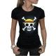 ONE PIECE - Tshirt Skull with map femme MC black - basic