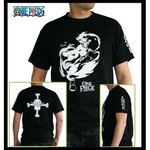 ONE PIECE - Tshirt ACE MC black