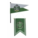 Harry Potter - Set bannière & drapeau Slytherin