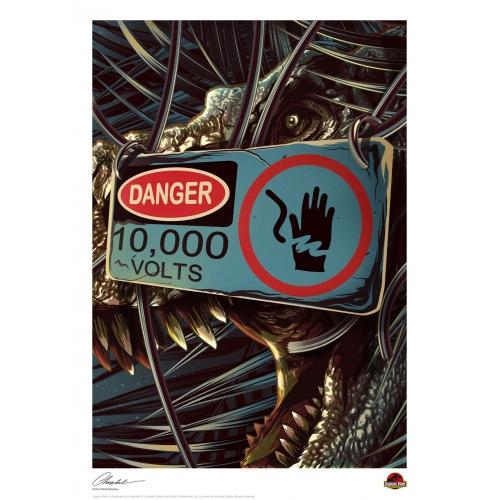 Jurassic Park - Lithographie Danger 42 x 30 cm