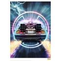 Retour vers le Futur - Lithographie DeLorean 42 x 30 cm