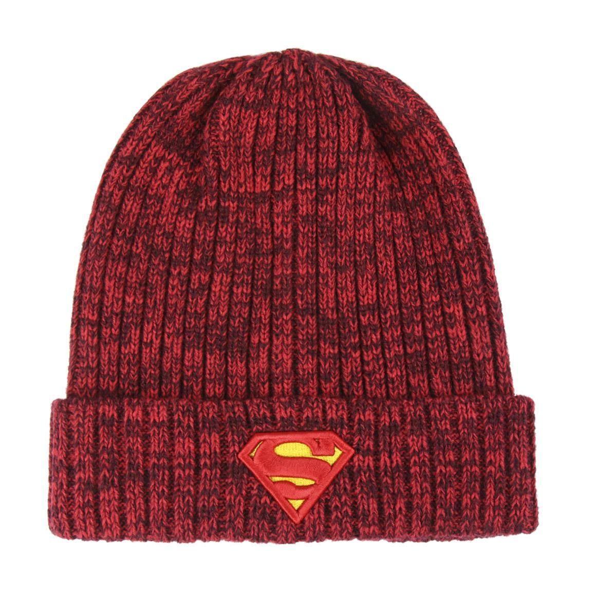 Logoshirt Bonnet en Laine Superman Logo avec Logo brod/é Bonnet DC Comics Super-h/éros Bleu Design Original sous Licence