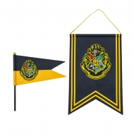 Harry Potter - Set bannière & drapeau Hogwarts
