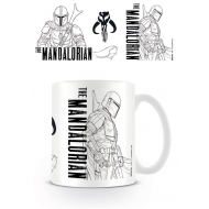 Star Wars The Mandalorian - Mug Line Art