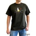 LAPINS CRETINS - Tshirt Piranha homme MC kaki - basic