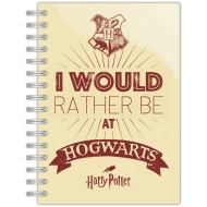 Harry Potter - Carnet de notes A5 I'd rather be at Hogwarts