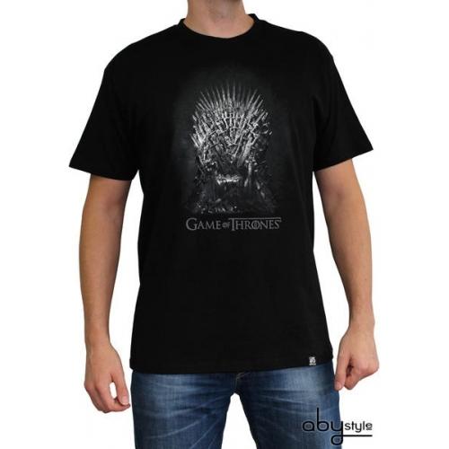 GAME OF THRONES - Tshirt Trône de fer homme MC black - basic